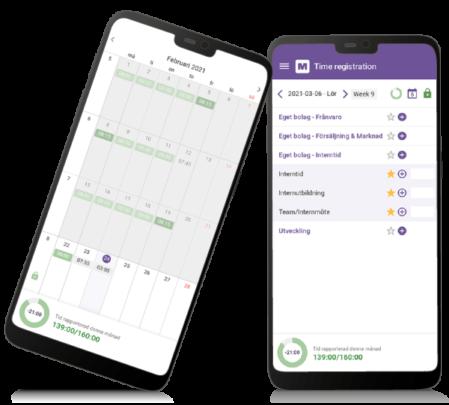 tidredovisning och tidrapportering med app